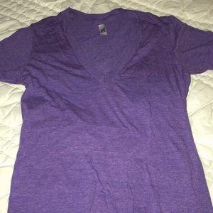 American Apparel purple deep v tee shirt. Size XS